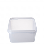 2Ltr Tamper Evident Natural Square Container